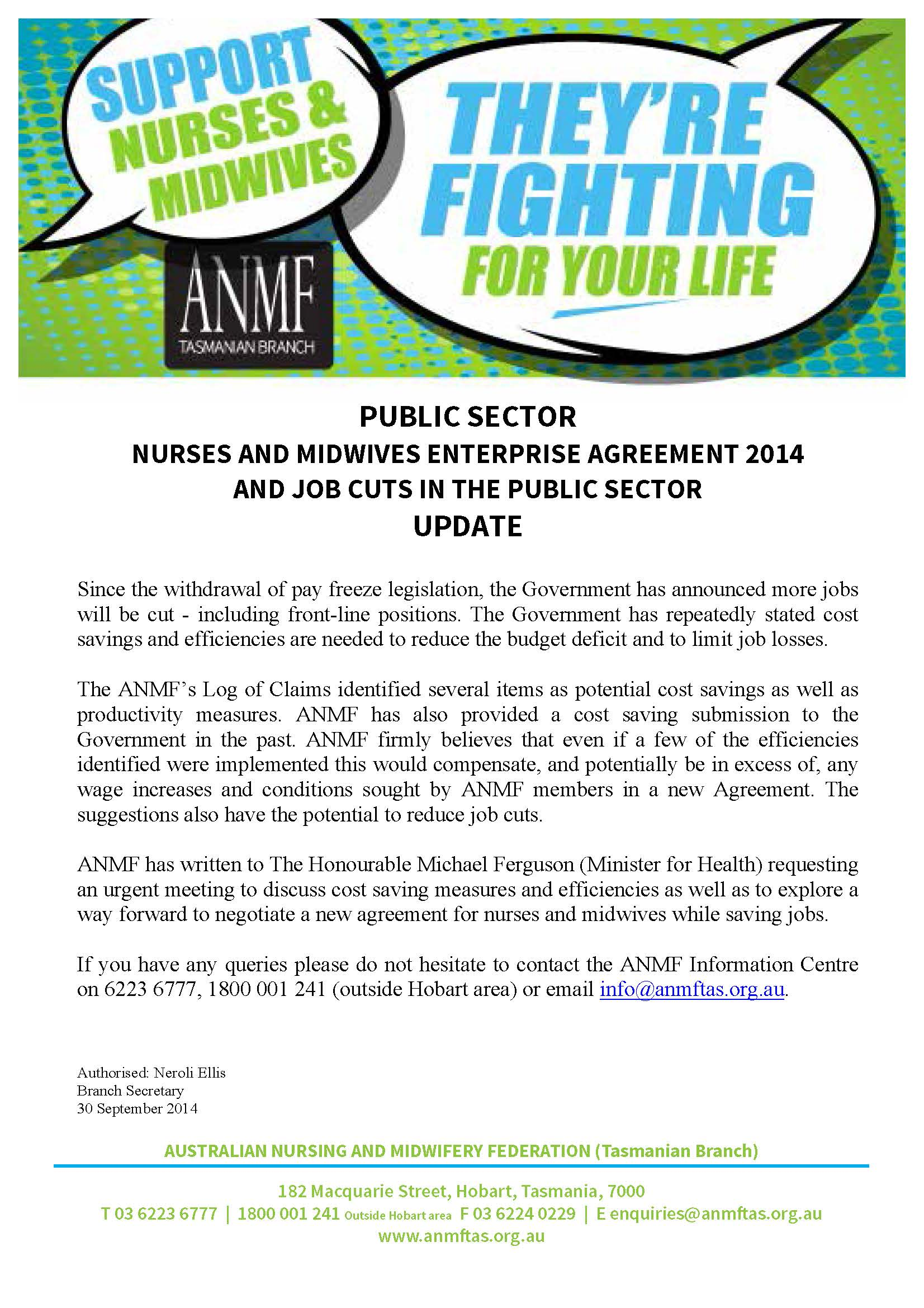 Nurses midwives enterprise agreement 2014 and job cuts in the 20140930 nurses and midwives ea 2014 update flier1 platinumwayz